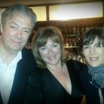 Lucy Parham, Harriet Walter and Roger Allam at The Ivy for 'Nocturne', 2014 © Lucy Parham (@LucyParham on Twitter)