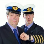 Roger Allam and Benedict Cumberbatch in Cabin Pressure © Pozzitive Productions / BBC