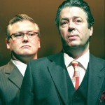 Conleth Hill as Günter Guillaume and Roger Allam as Willy Brandt © Conrad Blakemore