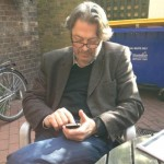 'For my own amusement, I'm encouraging Roger Allam to join twitter using his 'young person's device'...aka his iPhone!' © Lara Pulver (@larapulver on Twitter, 2012)