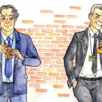 Peter Mannion and Malcolm Tucker by Margaux
