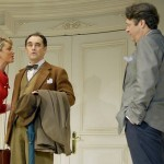 Tamzin Outhwaite as Gloria, Mark Rylance as Robert and Roger Allam as Bernard © Geraint Lewis