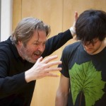 Roger Allam and Colin Morgan rehearsing © Marc Brenner