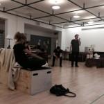 Roger Allam rehearsing for Seminar © Rebecca Grant (@RebeccaGrant4 on Twitter)