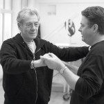 Sir Ian McKellen and Roger Allam rehearsing Aladdin © The Old Vic
