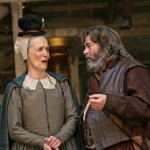 Barbara Marten as Mistress Quickly and Roger Allam as Falstaff in Henry IV Part II © John Haynes