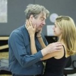 Charity Wakefield and Roger Allam rehearsing for Seminar © Hampstead Theatre