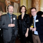 Roger Allam, Rebecca Hall and BPG Member Tim Adler, 2013 © Broadcasting Press Guild