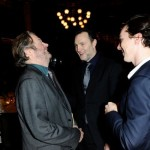 Roger Allam, David Morrissey and Benedict Cumberbatch at the BPG Awards, 2013 © Broadcasting Press Guild