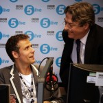 Radio presenter Richard Bacon and Roger Allam © The Guardian
