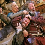 Jason Baughan, Barbara Marten and Roger Allam in Henry IV Part II © Globe Player
