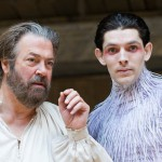 Roger Allam as Prospero and Colin Morgan as Ariel in The Tempest © Tristram Kenton / The Guardian
