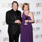 Roger Allam and Nancy Carroll with their Olivier Awards, 2011 © Olivier Awards