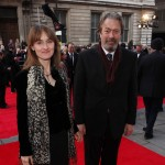 Roger Allam and Rebecca Saire on the red carpet at the 2012 Oliver Awards © Tim Whitby