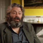 Roger Allam being interviewed about the 25th anniversary of Les Misérables