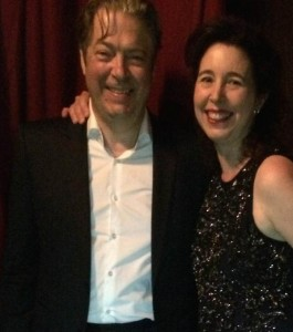 Angela Hewitt and Roger Allam © @HewittJSB