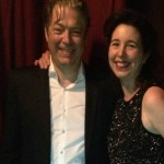 Angela Hewitt and Roger Allam © Angela Hewitt (@HewittJSB on Twitter)