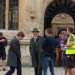 On the set of Endeavour series 4 © @Jodelle08, 2016