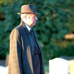 Roger Allam filming Endeavour IV at Headington Cemetery © Deb Johnson, 2016 (www.flickr.com/photos/debsjphotos)