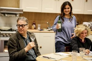 Roger Allam, Nathalie Armin and Debra Gillett in rehearsal for Limehouse at the Donmar Warehouse © Jack Sain 2017