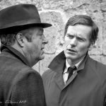 Shaun Evans and Roger Allam on the set of Endeavour series V © Natalia Kutsepova, September 2017