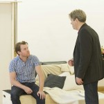 Roger Allam and Oliver Hembrough in rehearsal for Seminar © Alastair Muir
