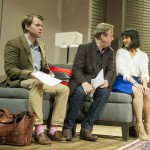 Oliver Hembrough, Roger Allam and Rebecca Grant in Seminar © Alastair Muir