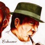 Endeavour Morse and Fred Thursday by Eva Holder - evaholder.deviantart.com