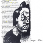 Drawing of Roger Allam © Antony Sher, From 'Year of the King'