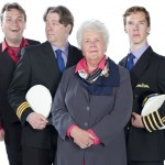 John Finnemore, Roger Allam, Stephanie Cole and Benedict Cumberbatch in Cabin Pressure © Pozzitive Productions / BBC