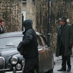 Shaun Evans and Roger Allam filming in Oxford