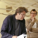 Roger Allam rehearsing Pravda © Shaun Webb