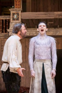 Roger Allam as Prospero and Colin Morgan as Ariel in The Tempest © Marc Brenner