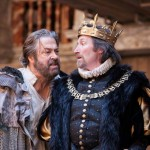 Roger Allam as Prospero and Peter Hamilton Dyer as Alonso in The Tempest © Marc Brenner