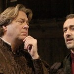 Roger Allam as Leonardo da Vinci iand Stephen Noonan as Machiavell in The Giant © Nigel Norrington