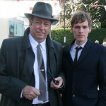 Roger Allam and Shaun Evans filming Endeavour © ITV / Mammoth Screen Ltd