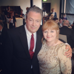 At the Soap Awards with Lesley Nicol, 2014 © Londontheatric instagram