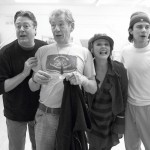 Roger Allam, Sir Ian McKellen, Frances Barber and Neil McDermott rehearsing Aladdin © The Old Vic