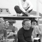 The cast of Aladdin at rehearsals © The Old Vic