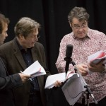 John Finnemore, Roger Allam and Gordon Kennedy recording Cabin Pressure © Pozzitive