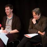 Benedict Cumberbatch and Roger Allam recording Cabin Pressure © Pozzitive