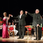 Dame Felicity Lott, Roger Allam, Maestro Jeffrey Tate and the Aurora Orchestra at the Trasimeno Music Festival, performing Walton's Façade © Studio diFoto