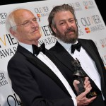 Michael Frayn and Roger Allam, Olivier Awards 2013 © Official London Theatre