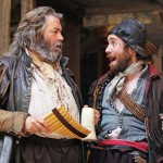 Roger Allam as Falstaff and Sam Crane as Pistol in Henry IV Part II © The Times