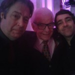 Roger Allam, Barry Cryer and Andrew Collins at the Radio Times Cover Party, 2015 © Andrew Collins (@Andrewcollins on Twitter)