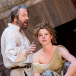 Roger Allam as Prospero and Jessie Buckley as Miranda in The Tempest© Marc Brenner