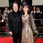 Roger Allam and Rebecca Saire on the red carpet at the 2011 Oliver Awards © Ian Gavan