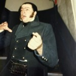 Roger Allam dressed as Javert behind the scenes of Les Misérables © Rebecca Caine (@RebeccaCaine on Twitter)