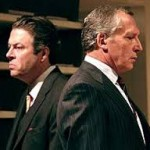 Roger Allam as Willy Brandt and Michael Simkins as Arno © National Theatre