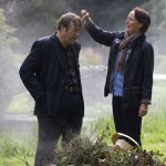 Roger Allam and Fiona Shaw on the set of The Hippopotamus © top10films, 2015